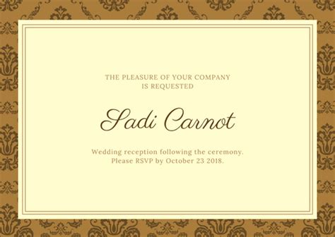 wedding reception card templates free free card maker now with stunning designs by canva