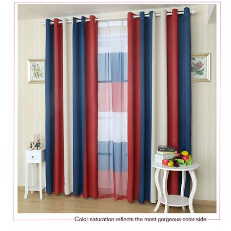 red and blue curtain panels compare prices on red white curtains online shopping buy