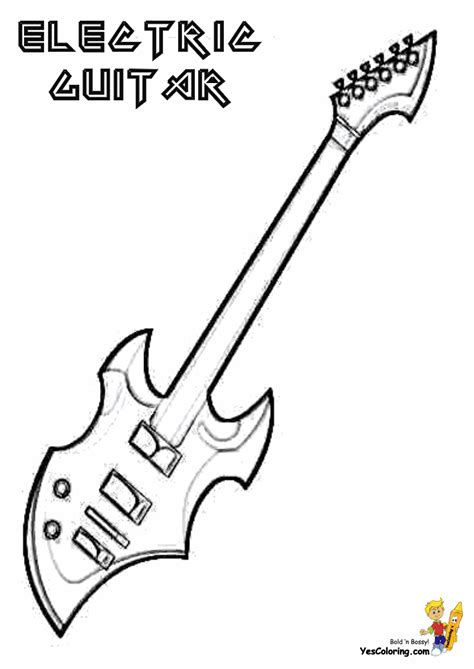 blues music coloring pages gritty guitar coloring free electric guitar