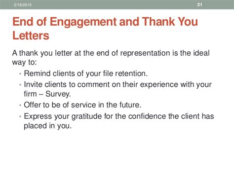 thank you letter to client for their support office management for paralegals