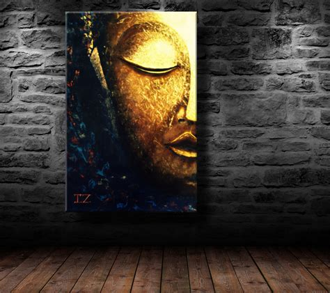 buddha oil painting wall art paintings picture paiting oil painting modern art glowing buddha canvas