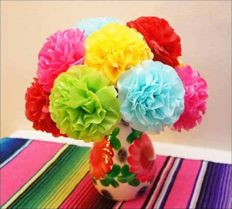 How To Make A Mexican Flower Out Of Tissue Paper - how to make mexican flowers out of tissue paper 28