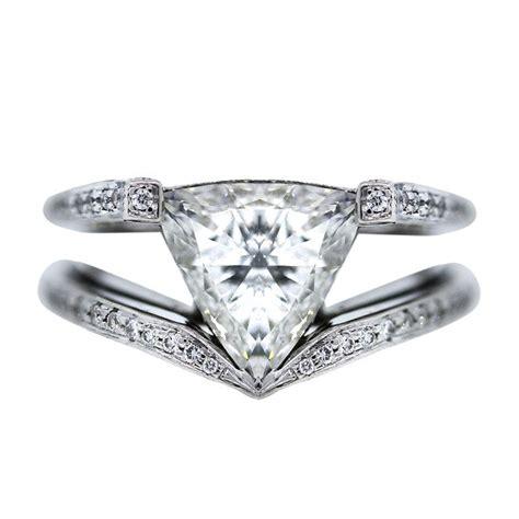 2 70 carat trillion cut platinum engagement ring