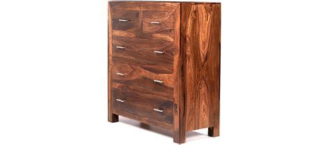 Sheesham Wood Chest Of Drawers by Cube Sheesham 2 3 Chest Of Drawers Quercus Living