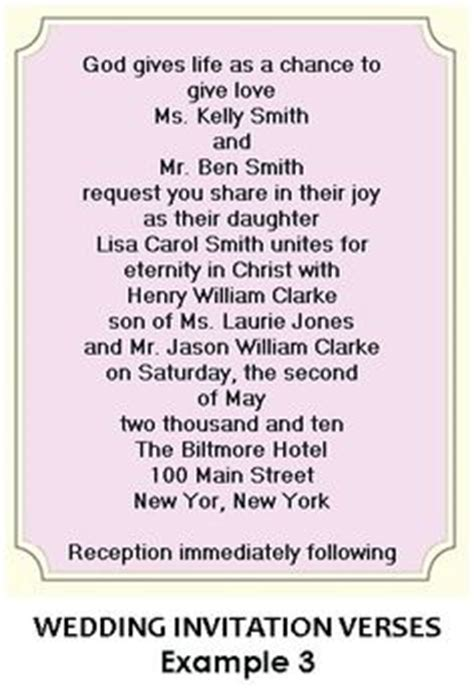 wedding invitation poems verses 1000 images about christian wedding invitation wording on christian weddings