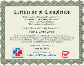 Aid Certificate Template by Faith Certificate Cpr Certification Aid