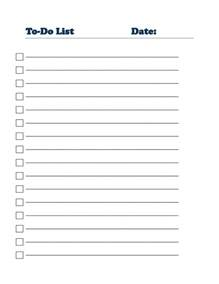 List Templates Printable by 40 Printable To Do List Templates Baby