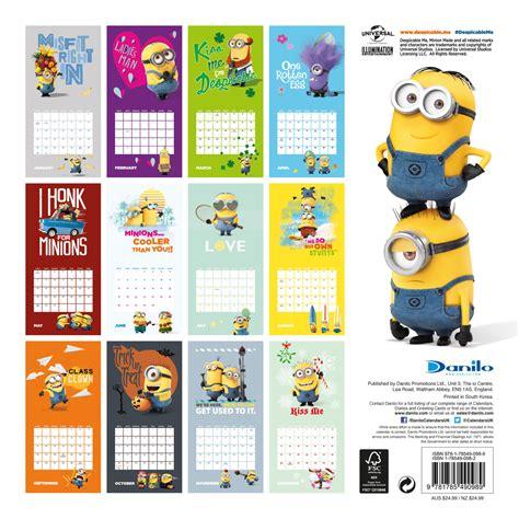 minion desk calendar 2018 despicable me minions calendars 2018 on europosters