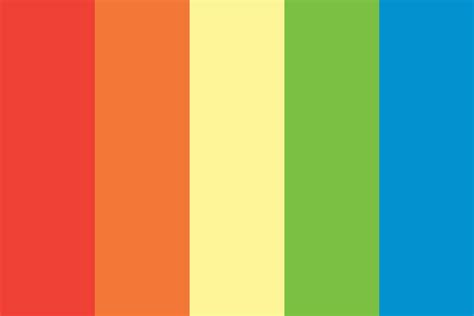 rainbow color palette rainbow dash color palette