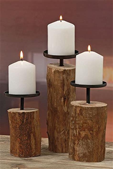 Kerzenständer Holz Weiß Vintage by Eur 19 94