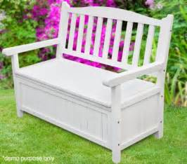 Garden Bench With Storage White Garden Outdoor Bench Storage Sales