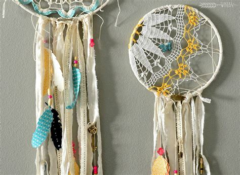 Handcrafted Catchers - how to make diy doily catchers tinsel wheat