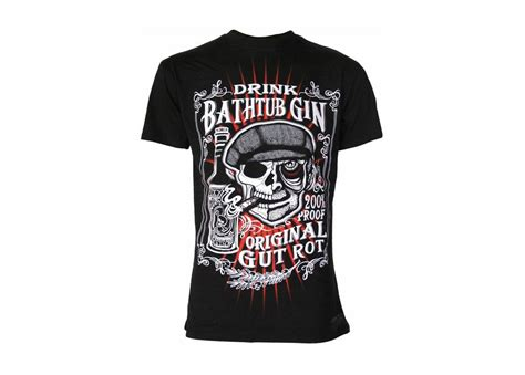 Bathtub Gin T Shirt by Darkside Clothing Bathtub Gin T Shirt Attitude Clothing