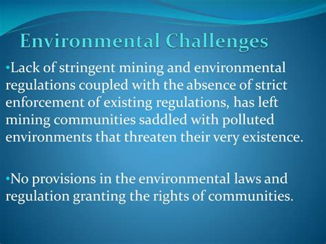 environment challenges ppt mining environmental issues in powerpoint