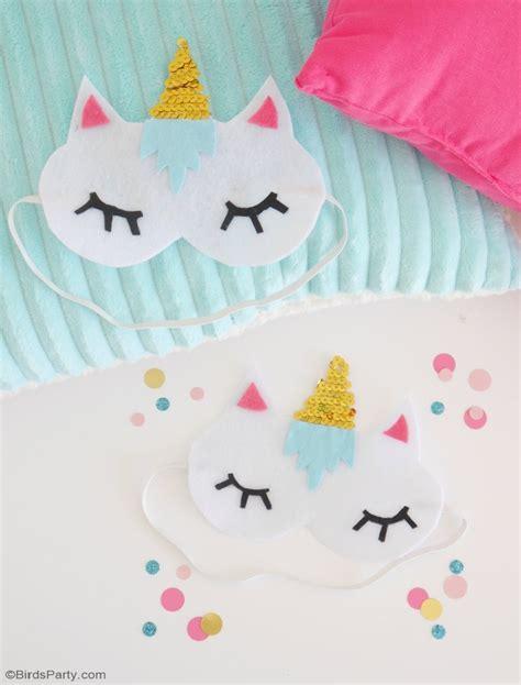 unicorn mask pattern no sew diy unicorn sleeping masks with free template