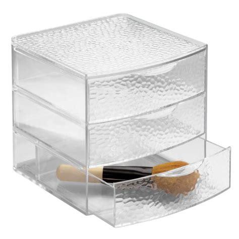 bathroom countertop storage drawers new interdesign 3 drawer large box vanity organizer countertop cabinet storage ebay
