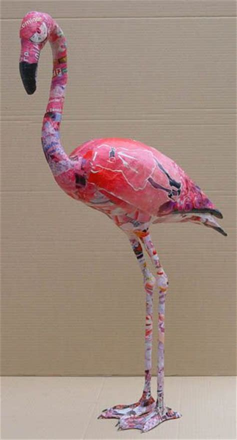 How To Make A Flamingo Out Of Paper - image result for paper mache flamingo paper