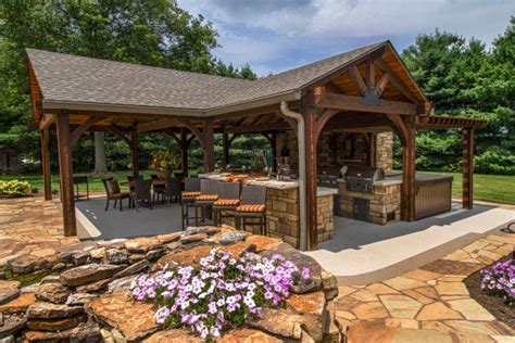 outdoor kitchen and fireplace poolside pavilion with tv outdoor fireplace kitchen hgtv
