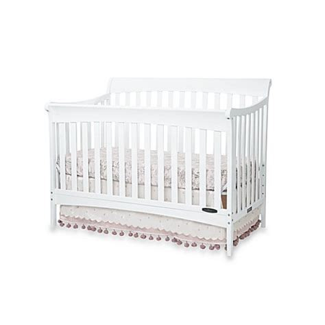 Sleigh Bed Crib Child Craft Coventry 4 In 1 Convertible Sleigh Crib In Matte White Www Buybuybaby