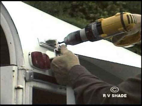 how to install rv awning horse trailer awning installation youtube