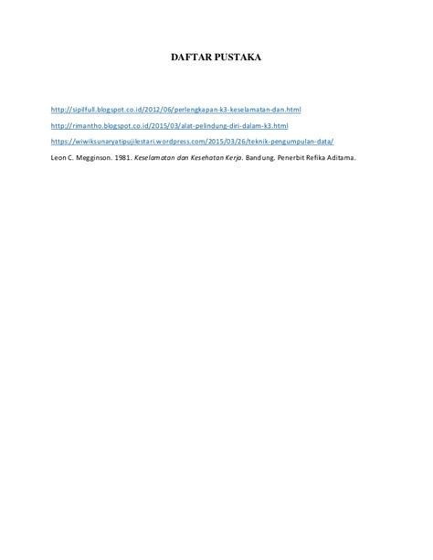 Auditing Proyek Proyek Kontruksi Penerbit laporan observasi lapangan k3