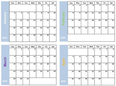six month calendar template printable 6 month calendar printable calendar