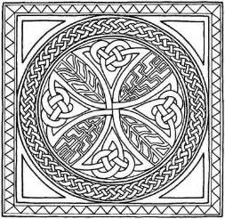 cross mandala coloring pages celtic border patterns free celtic cross coloring pages