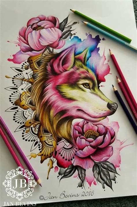 25 best watercolor wolf ideas on pinterest wolf