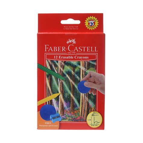 Crayon Faber Castell Isi 12 Warna jual faber castell 122530 erasble crayons set 12 pensil