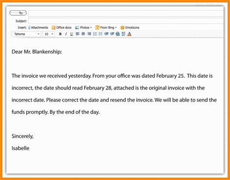 writing a professional email template professional email writing sles archives darciacraft