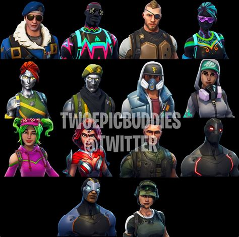 skins all 4 fortnite leaked skins back bling and axes reveal more new