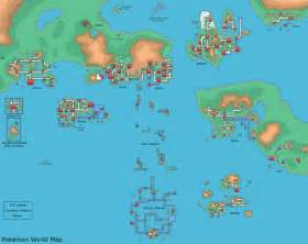 Map Of The Pokemon World by Pokemon World Map By Dr Big47 On Deviantart
