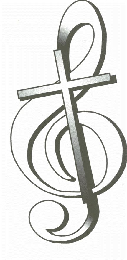 cross and music note tattoo treble clef and cross logo gif soli deo gloria