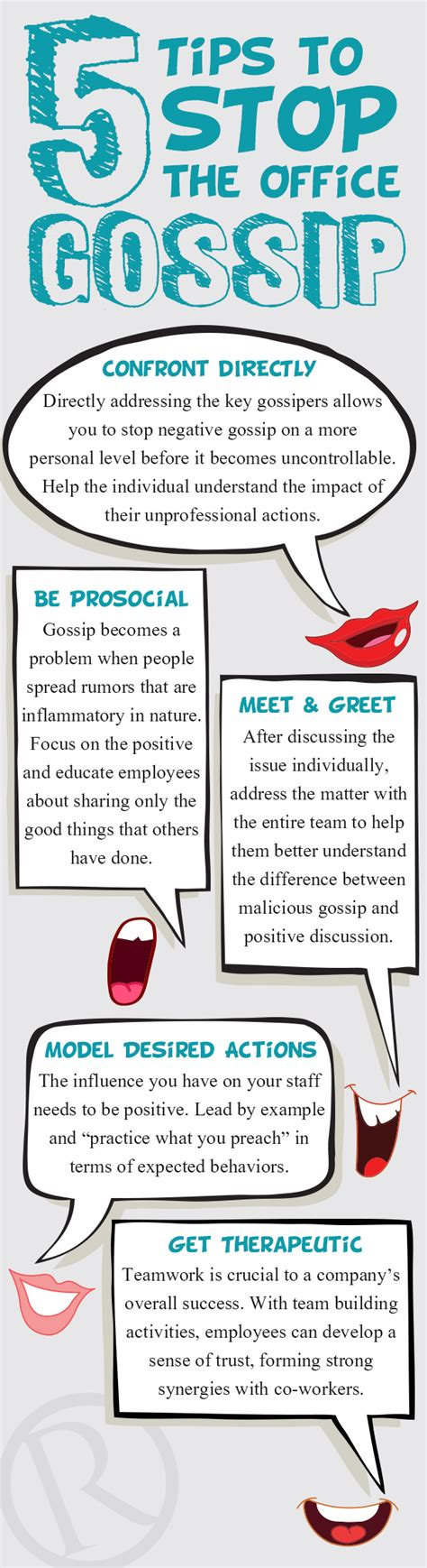 how to stop the gossip 5 tips to stop the office gossip infographic rymax