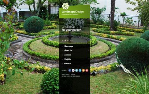 garden template landscape design creative garden solutio html5 template by