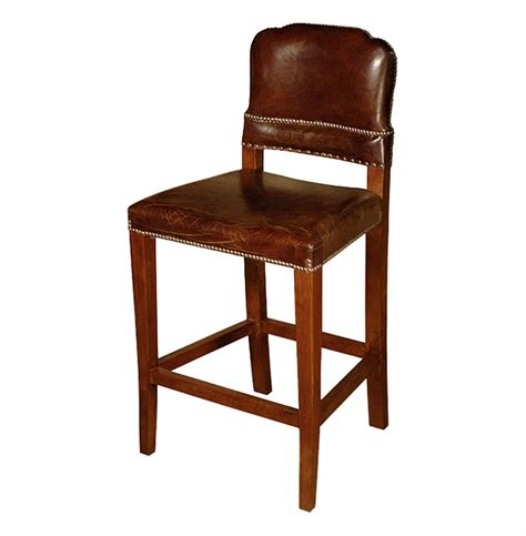 leather top bar stools gibbons rustic lodge cigar top grain leather counter stool