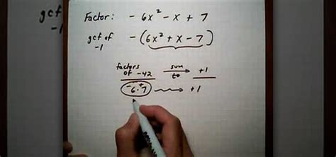 how to a to with you how to factor a trinomial with negative leading coefficient 171 math wonderhowto