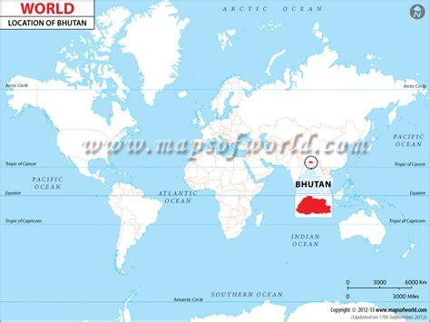 where is bhutan on a world map where is bhutan location of bhutan