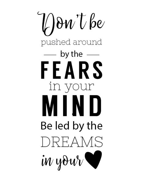 printable inspirational quotes in black and white free printable black and white quotes for chasing your dream