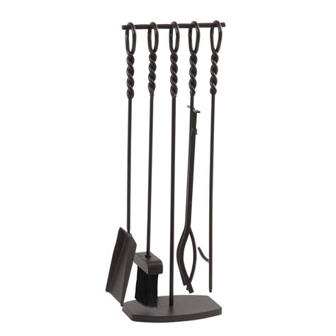 Lowes Fireplace Accessories by Shop Pleasant Hearth 5 Steel Fireplace Tool Set At