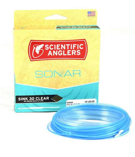 clear sinking fly line scientific anglers sonar sink 30 fly line tackledirect