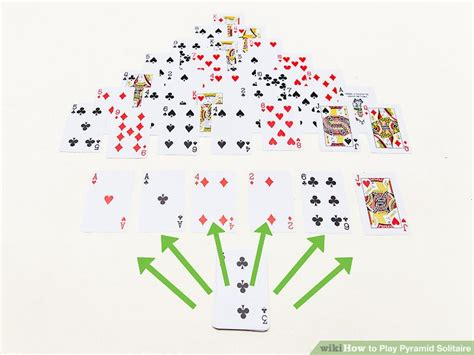3 ways to play pyramid solitaire wikihow