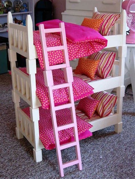 american girl doll bunk beds doll bunk bed single sized triple bunk set for american