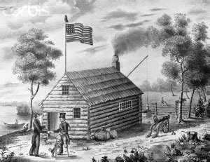 Log Cabin And Cider Caign by Cider American Orchard
