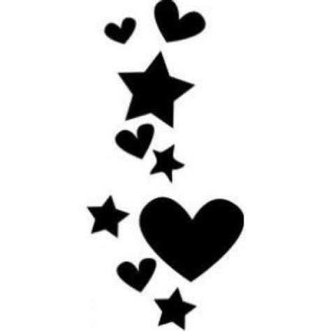 imagenes en blanco y negro de corazones estrellas y corazones