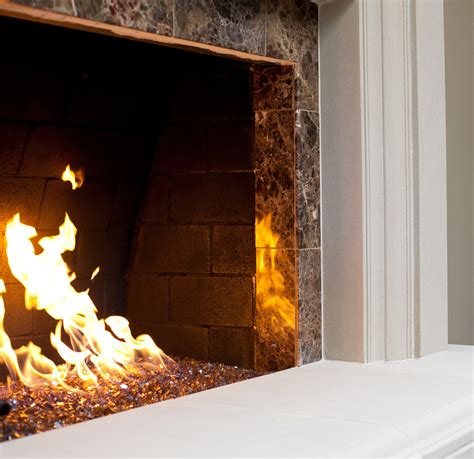 Gas Logs Inserts And Glass Rock Fireplace Ideas Rocks For Fireplace