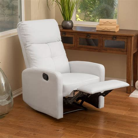 Small White Leather Recliner Finding The Best Small Leather Recliners Best Recliners