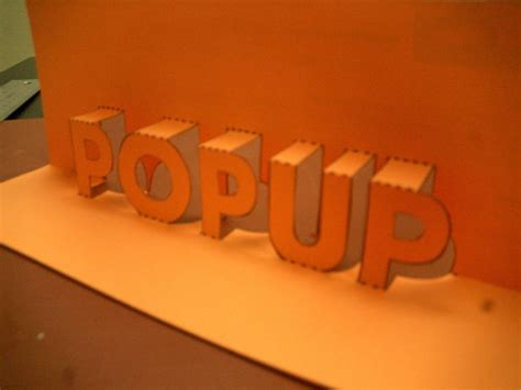 pop up pop up 3d words and messages