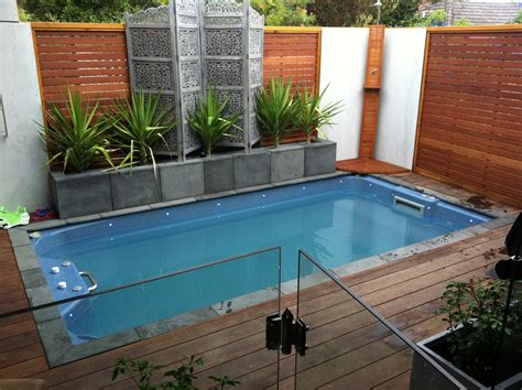 small yard pool wooden backyard garden enclose small backyard swimming