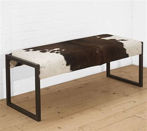 cowhide storage bench cowhide bench option lake austin pinterest